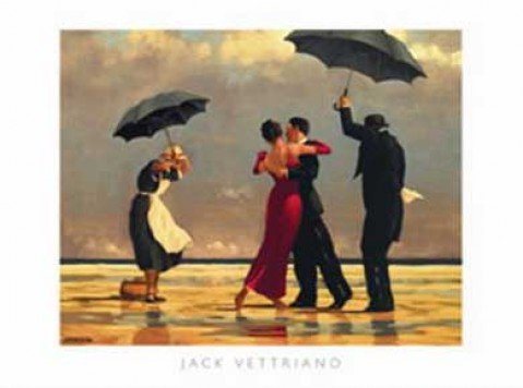 Posters: Jack Vettriano Poster Art Print - The Singing Butler I