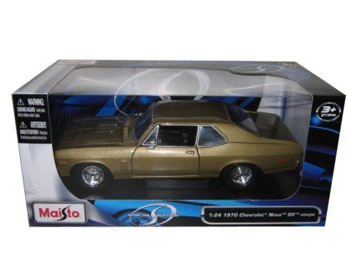 1970 Chevrolet Nova SS Brown 1:24 Diecast Model Car by Maisto