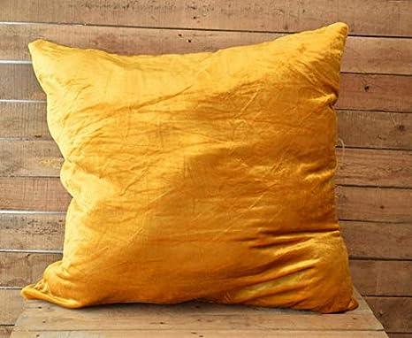 Amazon.com: Almohadas de terciopelo Mustard, almohadas ...