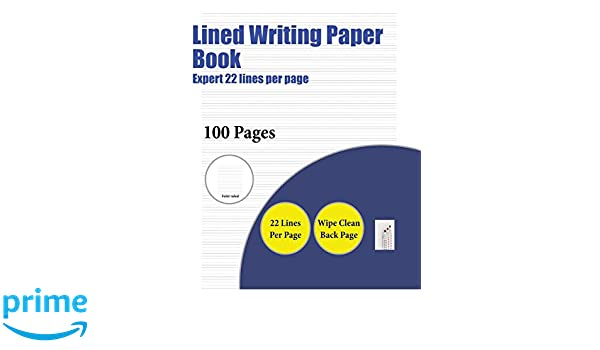 Lined Writing Paper Book Expert 22 Lines Per Page A Handwriting