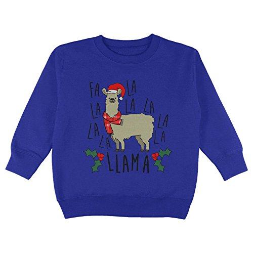 Price comparison product image Old Glory Christmas FA LA Llama Toddler Sweatshirt Royal 3T