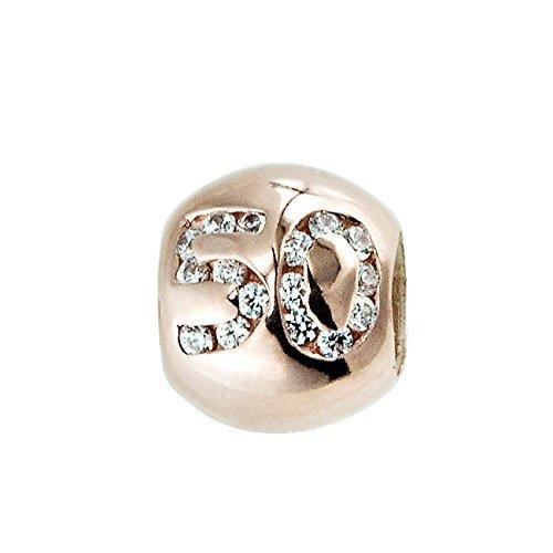 Lovelinks Rose Gold plated birthday 50 0382423-75