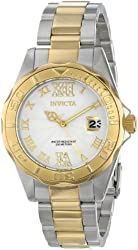 Invicta Women's 14791 Pro Diver Analog Display Japanese Quartz Two Tone Watch