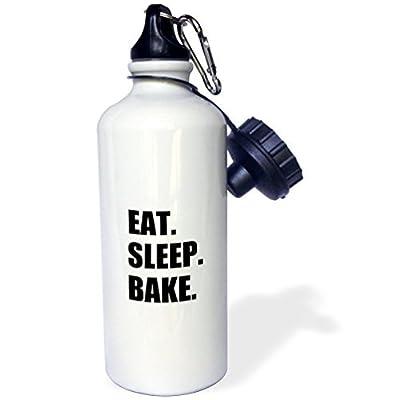 Eat Sleep Bake la passion de cuisson pour loisir ou Pro Baker Sports Bouteille d'eau en acier inoxydable Bouteille d'eau pour femme homme enfants 400ml