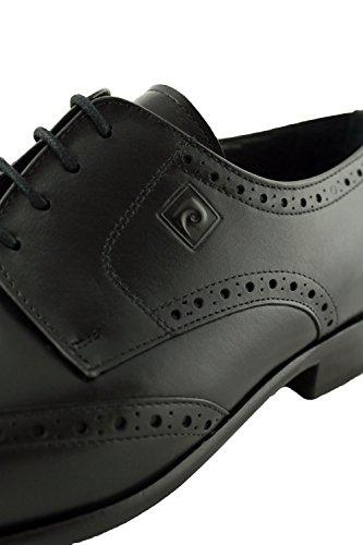 Noir Chaussures Cardin Cuir Pierre Perforé En nwRBqX8
