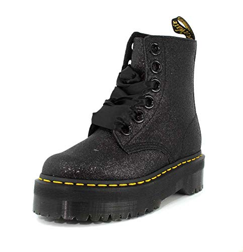 Dr Boot Martens Molly Womens Glitter Glitter Black I4q0I