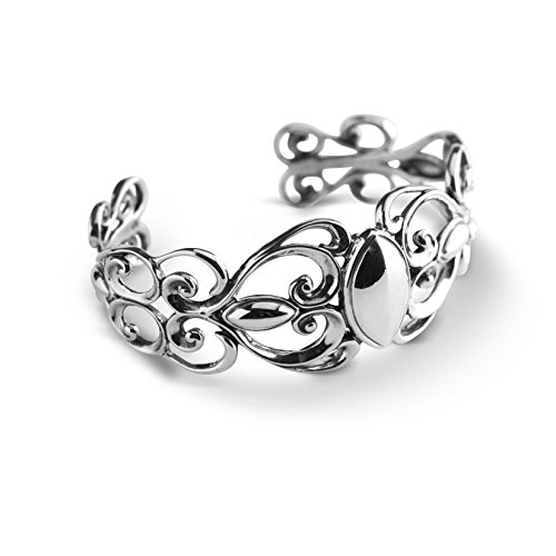 Carolyn Pollack Sterling Silver Swirl Scroll Cuff Bracelet by Carolyn Pollack