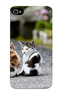 Top Quality Protection Kitten Couple Case Cover For Iphone 4/4s With Appearance/best Gifts For Christmas Day