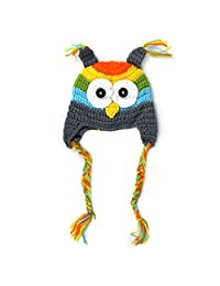 Gillberry 0-18M Newborn Baby Infant Toddler Knit Crochet Photo Prop Costume Owl Hat (multicolour)