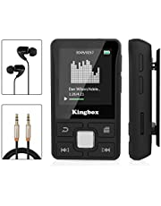 Mp3 Player with Clip, Kingbox X55 32GB Music Player with Bluetooth 4.1, Support FM Radio/Voice Recorder/Play/Text Reading Playback,Expandable Up to 128 GB