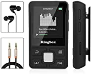Mp3 Player with Clip, Kingbox X55 32GB Music Player with Bluetooth 4.1, Support FM Radio/Voice Recorder/Play/T