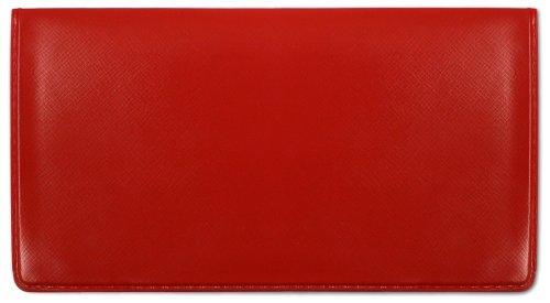 Red Vinyl Checkbook Cover