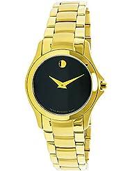Movado Womens Masino 0607027 Gold Stainless-Steel Swiss Quartz Fashion Watch