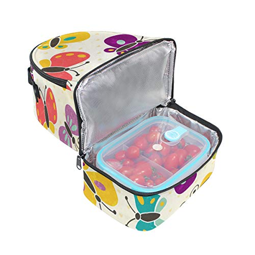 la de aislamiento ajustable con con para el diseño hombro con Bolsa mariposas almuerzo de correa Alinlo para pincnic térmico escuela de gw8fqTXx