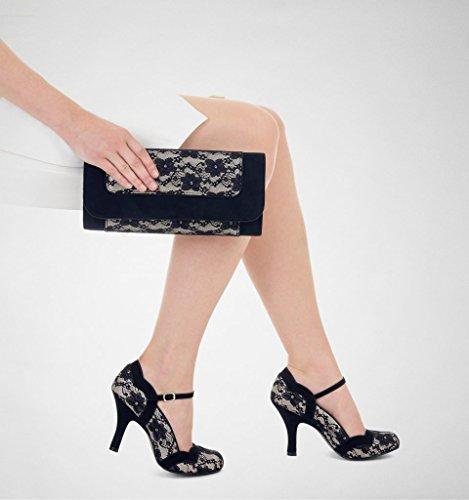 Clutch Charleston Shoo Hand Lace Womens Bag Ruby 4Fwq4