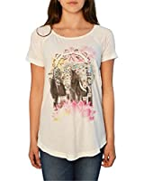 Lucky Brand Elephant Drawing Tee in Cloud Dancer