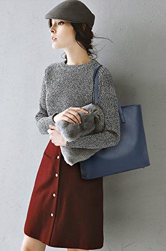 Borsa Borse a Blu vintage mano Borse donna Sdinaz pelle PU Borsa a Moda in da tracolla qUwgz