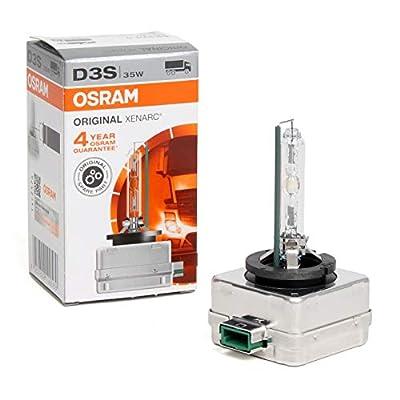 Genuine Osram 66340HBI Xenarc 35W D3S PK32D-5 4600K HID Xenon Light Bulb (1 Pack): Automotive