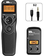 Remote Shutter Release for Sony, Pixel TW-283 S2 Timer Shutter Release Remote Control for Sony DSLR Cameras, Replaces Sony RM-SPR1
