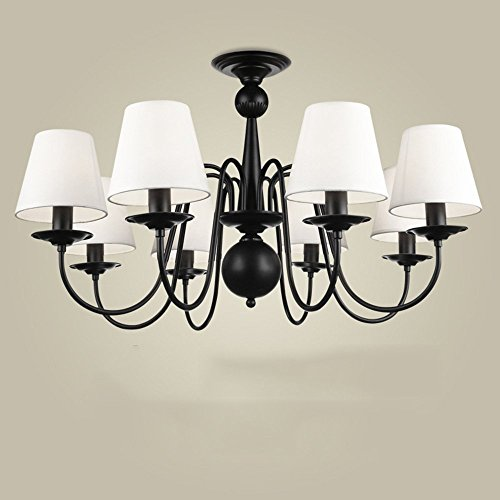 - DIDIDD Chandelier- 3/6/ 8 chandelier modern/contemporary traditional/classic vintage country iron feature for living room bedroom dining room --interior lighting chandeliers,Segmented remote control-