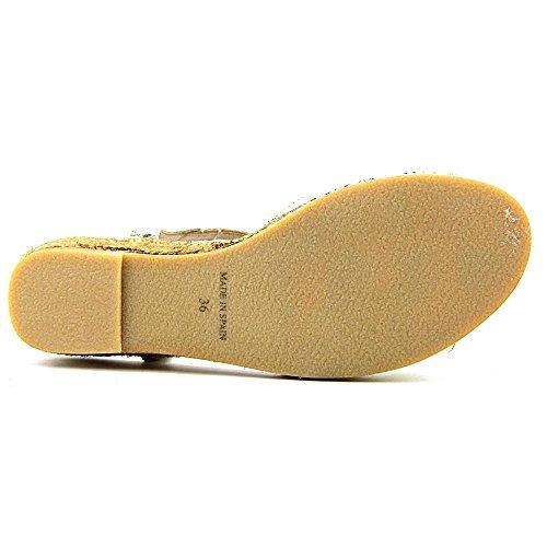 Eric Michael Nobo Skimmer Vintage Läder Fodrad Espadrille Komfort Sandal Guld