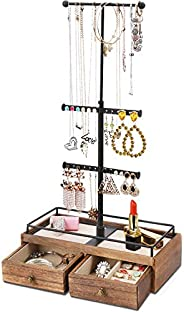 PREMIUM QUALITY PLASTIC SHAPED JEWELLERY STANDS-3 SIZE SET /& 4 COLOURS AVAILABLE