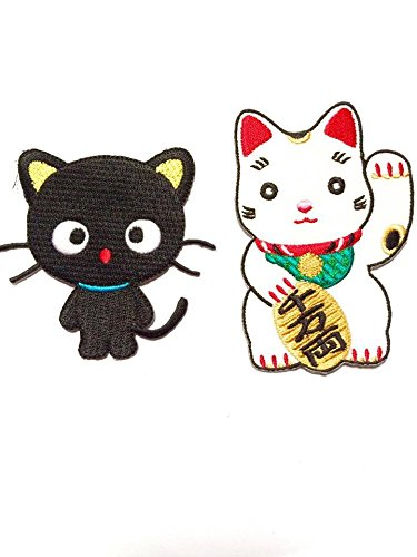 [Cute Maneki-neko Japan Japanese Lucky Cat DIY Embroidered Sew Iron on Patch] (Japanese Costumes Diy)