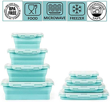 Collapsible container Microwaveable dishwasher Colour coded