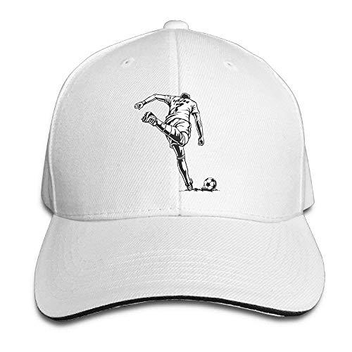 JHDHVRFRr Hat Football Goal Denim Skull Cap Cowboy Cowgirl Sport Hats for Men Women