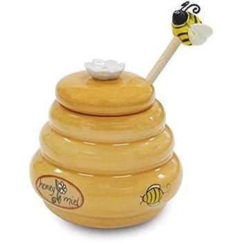 Amazon.com: Bee 20-ounce Stoneware Honey Pot Pottery Jar