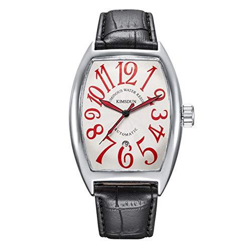 Okänt klockor herr märke Casablanca automatisk mekanisk klocka tunnformad belysning vattentät a