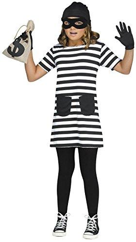 Burglar Halloween Costume Girl (Burglar Child Costume - M (8-10))