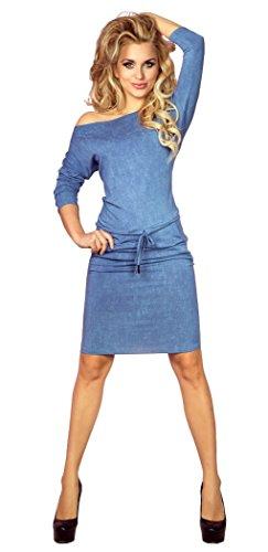 Glamour Empire Para mujer deporte Vestido a media cintura anudada bolsillos 533 Jeans