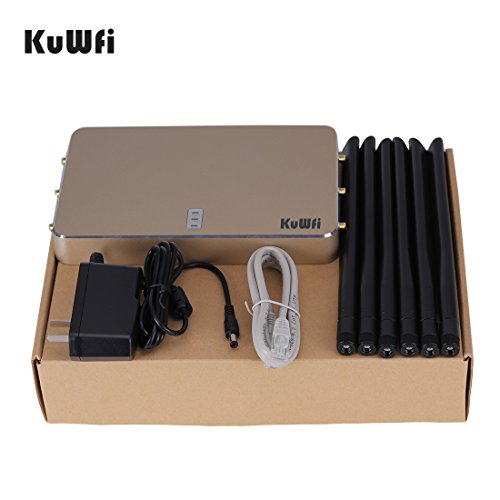 KuWFi High Power Wireless Gigabit Router, wireless Gigabit Access Point 802.11 ac router 1200Mbps Cover Long Area Support more than 100Users easy to Use Through walls 2000mW 128M DDR2 RAM for Home by KuWFi (Image #6)