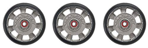 Magline 10815 8'' Diameter Mold On Rubber Wheel with Red Sealed Semi Precision Ball Bearings (3-(Pack))