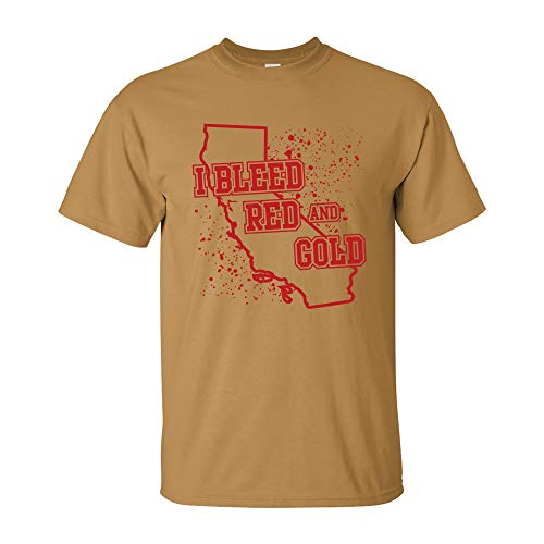 I Bleed Red and Gold - San Francisco California Football Sports Team T Shirt - Medium - Old ()