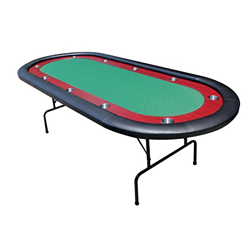 96 Inch Poker Table - IDS 10 Players Texas Hold'em Folding Legs Casino Poker Table Ver 2, 96