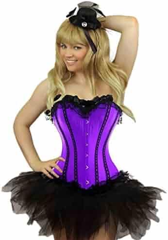 96992966105 Yummy Bee Womens Burlesque Corset + Tutu Skirt Costume Plus Size 2-22
