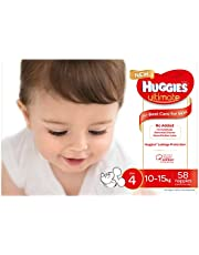 Huggies Ultimate Nappies, Unisex, Size 4 (10-15kg), 58 Count
