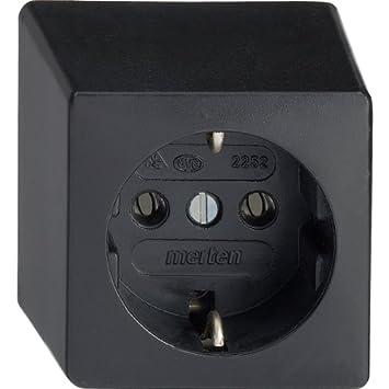 Merten 225251 Gummi-SCHUKO-Steckdose AP, schwarz: Amazon.de: Baumarkt