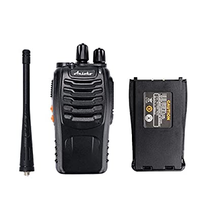 Ansoko Long Range Walkie Talkie Rechargable FRS/GMRS 16-Channel Handheld Two Way Radio with Earpiece (6 Pack): Car Electronics