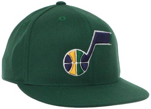 NBA Utah Jazz Flat Brim Flex Fit Hat, Large/X-Large