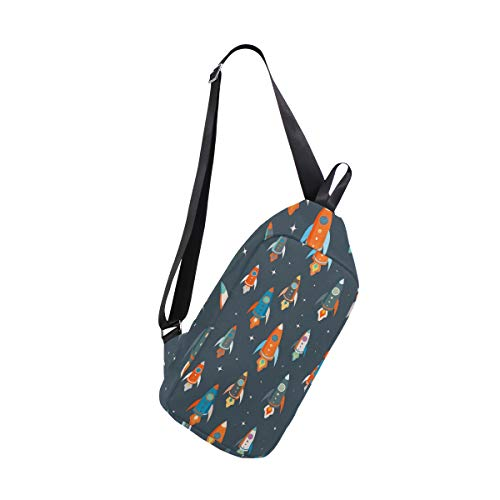 Spaceships Men amp; Backpack Shoulder Women Bags Crossbody Sling One Chest Bennigiry Bag For Colorful fcqpwT75