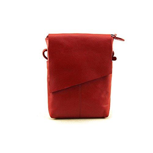 Leather Mini Sac Flap Cross-body Handbag,One Size,Red