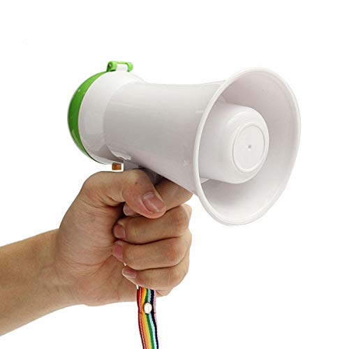 Portable Mini Handheld Megaphone Bullhorn Loudspeaker Amplifier Bullhorn Voice - Media Players Microphones - 1 x Mini Megaphone (battery Not included) ()