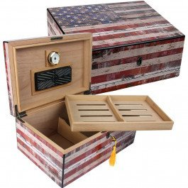 Quality Importers Trading Old Glory Cigar humidor