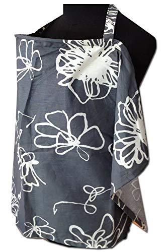 Palm and Pond Palm /& Pond Grey//White Floral Baby Breastfeeding Cover Medium