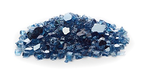 - Exotic Fire Glass - Sky Blue Reflective Fire Glass - 25lb. Bag