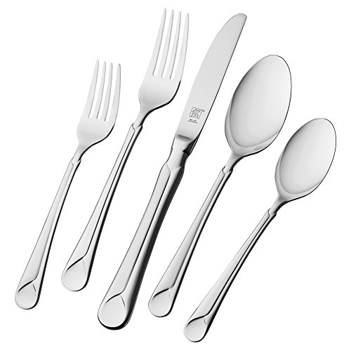J.A. Henckels International Provence 45-Piece Stainless-Steel Flatware Set, Service for 8 image