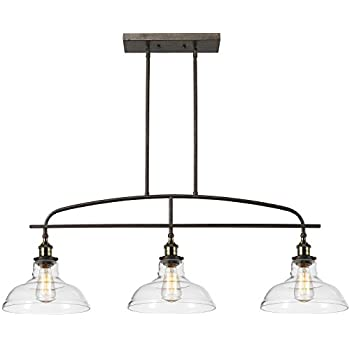 Claxy ecopower kitchen linear island pendant lighting vintage lamp chandelier 3 lights